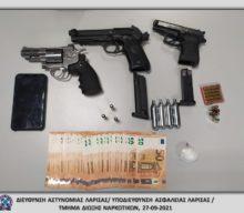 Σύλληψη ημεδαπού στη Λάρισα, κατηγορούμενου για παραβάσεις των νομοθεσιών περί ναρκωτικών και περί όπλων