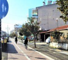 Επεκτείνεται ο ποδηλατόδρομος της οδού Κονδύλη στα Τρίκαλα
